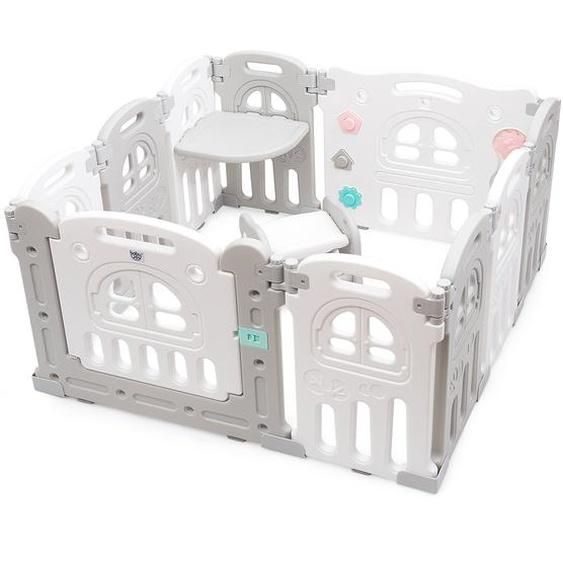 Baby-Laufgitter 10 Panele Laufstall Absperrgitter Faltbares Aktivitätszentrum für Babys