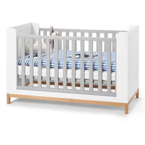 Baby- und Kleinkindbett - braun - Holz -