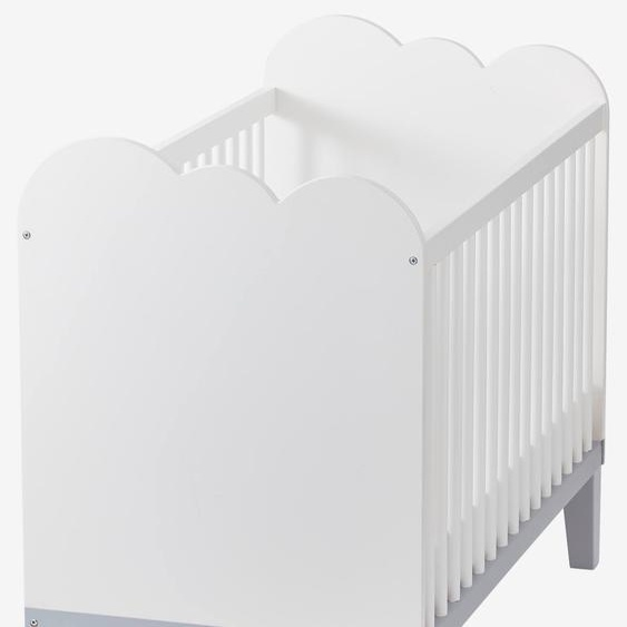 Babybett Wolke weiß/grau