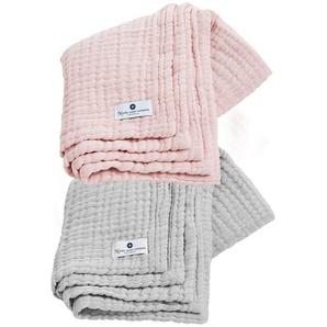 Tagesdecke »4in1 Decke 2er Set Grau-Rosa«, Nordic Coast Company, Premium: 4-fach gewebt