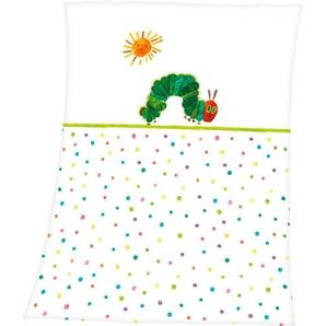 Babydecke »Die kleine Raupe Nimmersatt«, mit niedlichem Raupen-Motiv
