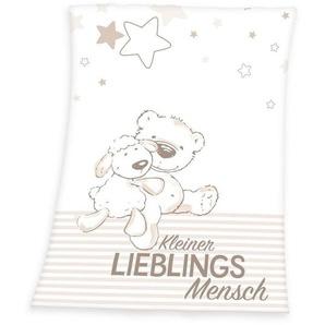 Babydecke »Kleiner Lieblingsmensch«, Herding, mit Teddy und Schaf