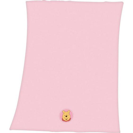 Babydecke »Winnie Pooh«, Disney, mit Winnie Pooh Applikation