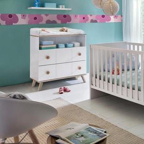 Babymöbel-Set Cannes, (Spar-Set, 2 St.), Bett + Wickelkommode B/H: 70 cm x 140 weiß Baby Baby-Möbel-Sets Babymöbel