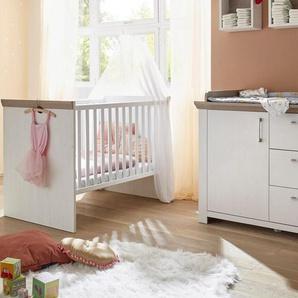 Babymöbel-Set »Stralsund«, (Spar-Set, 2-St), Bett + Wickelkommode