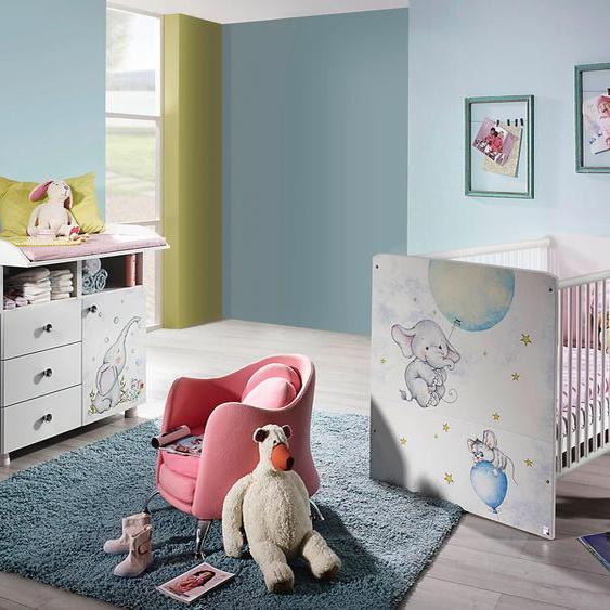 Babymöbel-Set Vancouver, (Spar-Set, 2 tlg.), Bett + Wickelkommode Einheitsgröße weiß Baby Baby-Möbel-Sets Babymöbel Schlafzimmermöbel-Sets