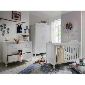 Babymöbelset in Weiß komplett (dreiteilig)