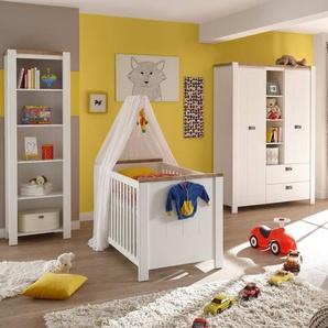 Babyzimmer 5008 in weiß/Westminster Eiche-Nachbildung