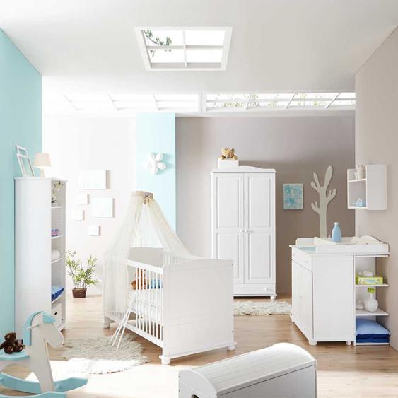 Babyzimmer in Wei� Kiefer Massivholz (5-teilig)