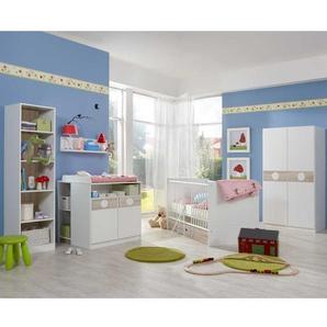 Babyzimmer Komplett Set in Wei� Eiche S�gerau (7-teilig)