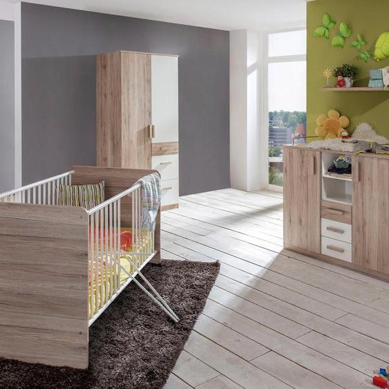 Babyzimmer-Komplettset Bergamo (Set, 3-tlg) Einheitsgröße braun Baby Baby-Möbel-Sets Babymöbel Schlafzimmermöbel-Sets