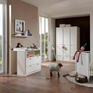 Babyzimmer-Komplettset Helsingborg, (Set, 3 St.), Bett + Wickelkommode trg. Schrank B/H: 70 cm x 140 weiß Baby Baby-Möbel-Sets Babymöbel