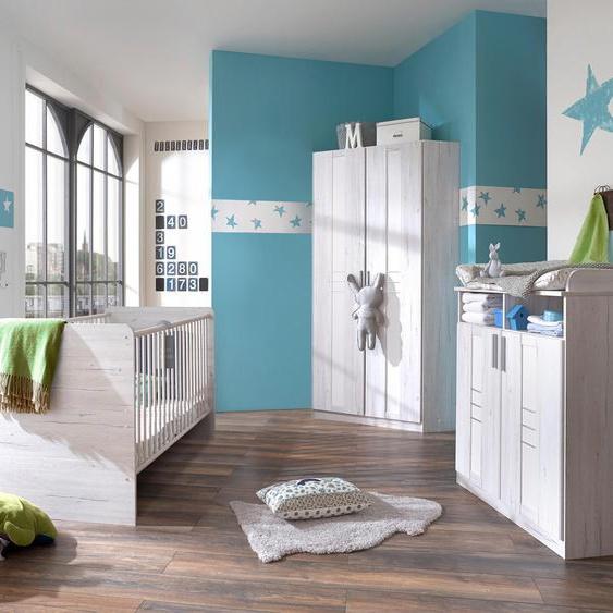 Babyzimmer-Komplettset Pellworm (Set, 3-tlg) Einheitsgröße weiß Baby Baby-Möbel-Sets Babymöbel Schlafzimmermöbel-Sets