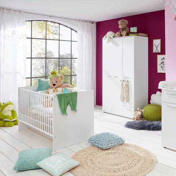 Babyzimmer-Komplettset Tilburg, (Set, 3 tlg.), Wickelkommode, Bett und 3trg. Schrank Einheitsgröße weiß Baby Baby-Möbel-Sets Babymöbel Schlafzimmermöbel-Sets