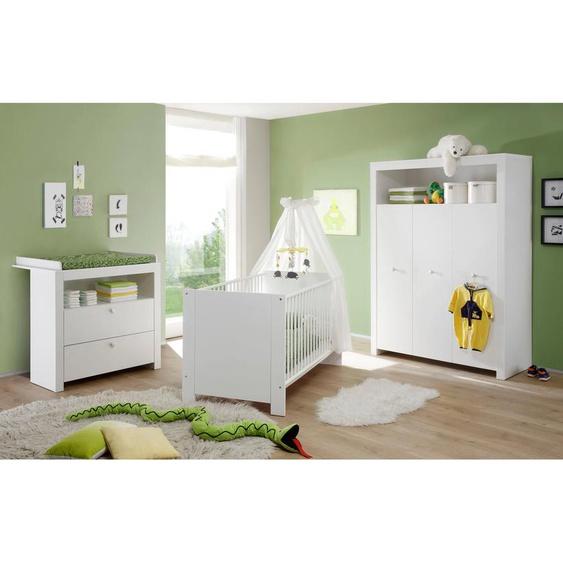 Babyzimmer-Komplettset Trend, (Set, 3 tlg.), Bett + Wickelkommode trg. Schrank Einheitsgröße weiß Baby Baby-Möbel-Sets Babymöbel Schlafzimmermöbel