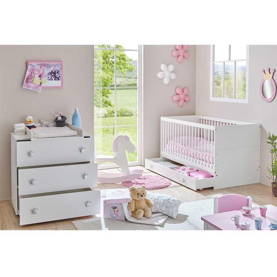 Babyzimmer M�bel Set in Wei� Wickelkommode (2-teilig)