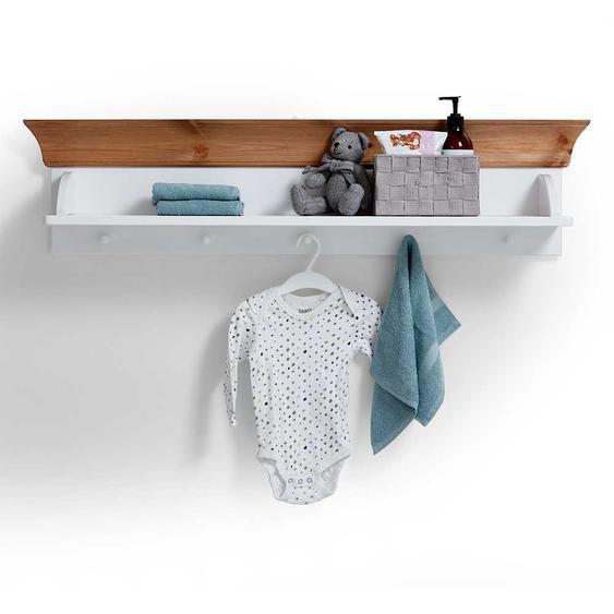 Babyzimmer Regal in Weiß Kiefer massiv hängend