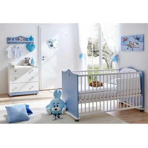 Babyzimmer Set f�r Jungen Hellblau Wei� (3-teilig)