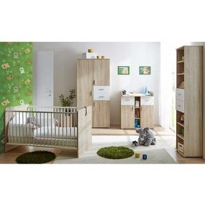 Babyzimmer Set in Sonoma Eiche und Wei� komplett (4-teilig)