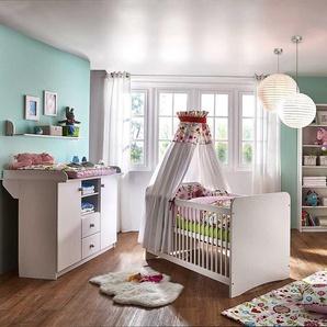 Babyzimmermöbel in Weiß Kiefer massiv (3-teilig)
