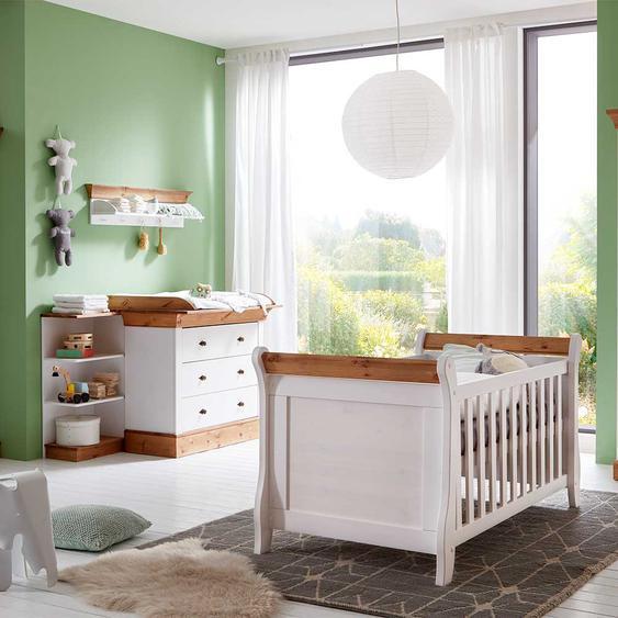 Babyzimmermöbel in Weiß Kiefer teilmassiv (3-teilig)