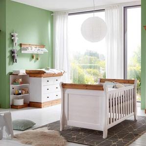 Babyzimmermöbel in Weiß Kiefer teilmassiv (dreiteilig)