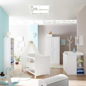 Babyzimmerm�bel Set in Wei� schlicht (5-teilig)