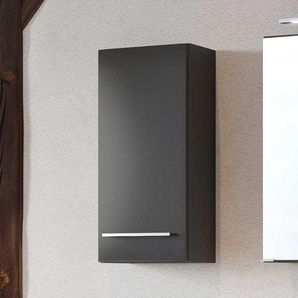 Bad Oberschrank in dunkel Grau 30 cm breit