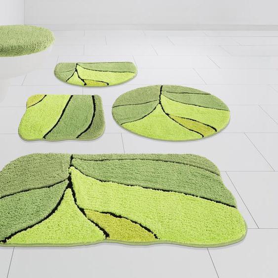 Badematte Amparo, my home, Höhe 20 mm, rutschhemmend beschichtet, schnell trocknend 7, rund Ø 80 cm, mm grün Gemusterte Badematten