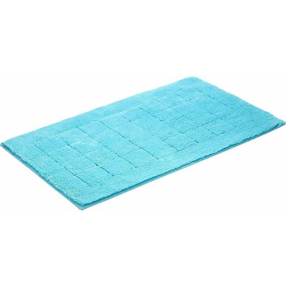 Badematte Exclusive, Vossen, Höhe 20 mm, rutschhemmend beschichtet, fußbodenheizungsgeeignet 2, rechteckig 55x65 cm, mm blau Einfarbige Badematten