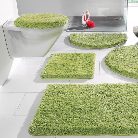 Badematte Sanremo, my home, Höhe 30 mm 11, 3-tlg. Stand-WC Set, grün Einfarbige Badematten