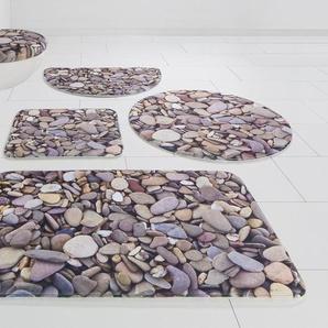 Badematte »Steine« my home, Höhe 14 mm, rutschhemmend beschichtet