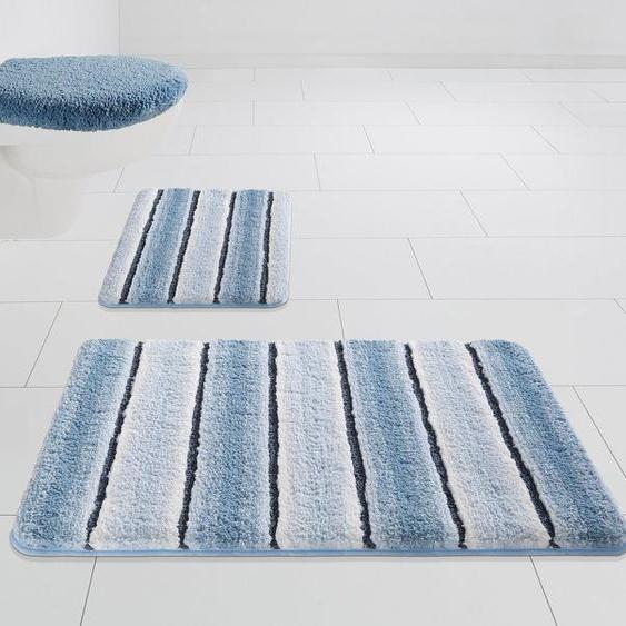 Badematte »Stripes« Home affaire, Höhe 7 mm, Besonders weich durch Mikrofaser