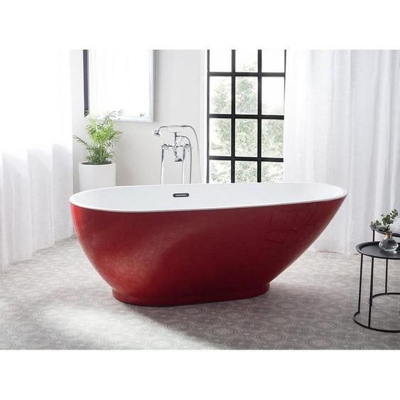Badewanne freistehend rot GUIANA