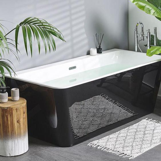 Badewanne freistehend schwarz HASSEL