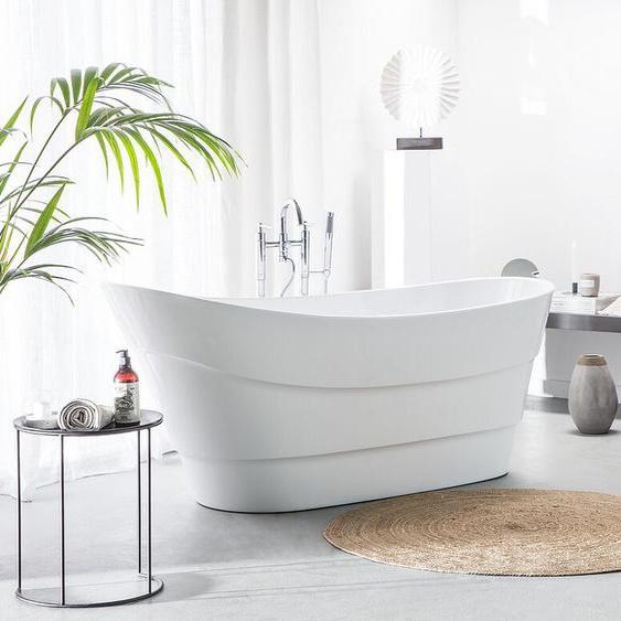 Badewanne freistehend weiß oval BUENAVISTA