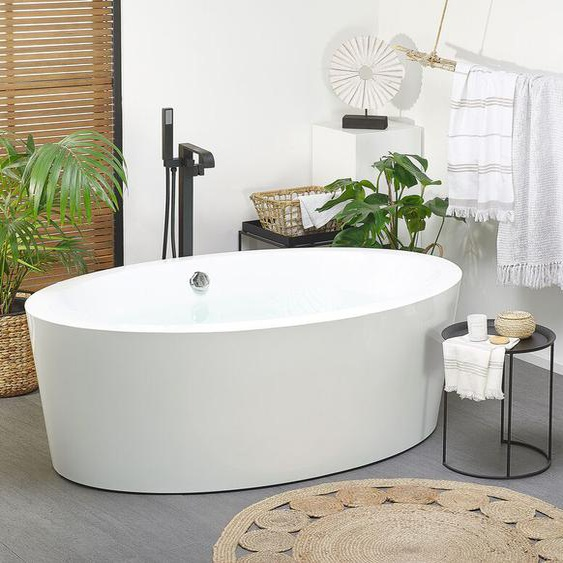 Badewanne weiß freistehend oval 170 cm TINTAMARRE