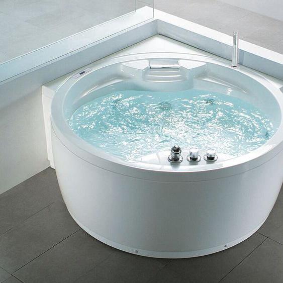 Badewanne-Whirlpool weiß Eckmodell MILANO