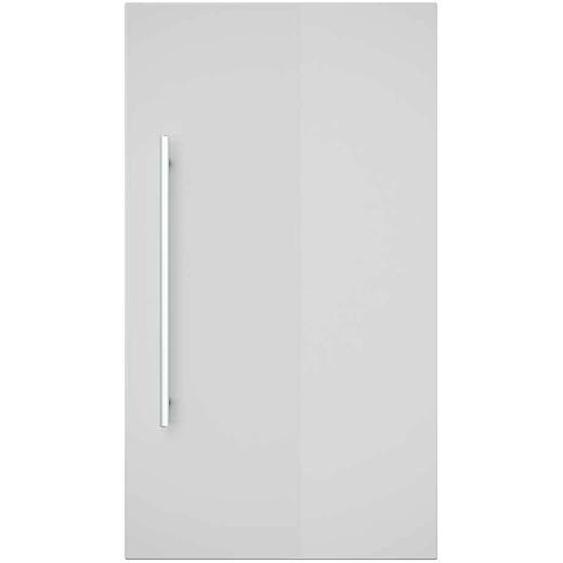 Badezimmer Hängeschrank in Weiß Hochglanz Eiche hell 40 cm