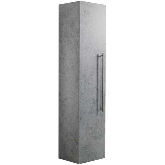 Badezimmer Hochschrank in Beton Grau hängend