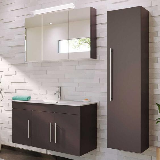 Badezimmer Kombination in Anthrazit Wandmontage (3-teilig)