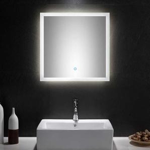 Badezimmer Lichtspiegel mit Glasrahmen modern