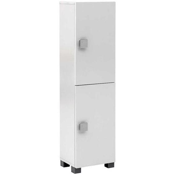 Badezimmer Seitenschrank in Weiß 2-türig