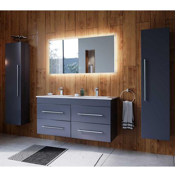 Badezimmer Set in Anthrazit zwei Personen Waschtisch (4-teilig)