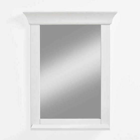 Badezimmer Spiegel in Weiß Kiefer Massivholz