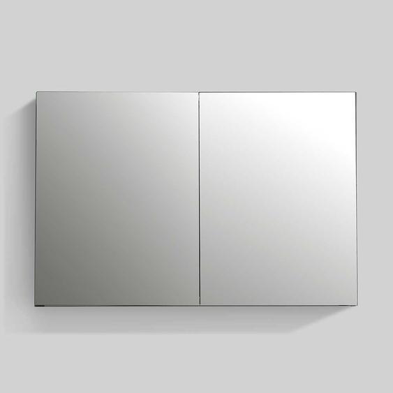 Badezimmer Spiegelschrank aus Aluminium 100 cm breit