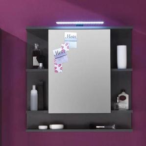 Badezimmer Spiegelschrank Graphit grau 72 x 72 cm Badmöbel Tetis