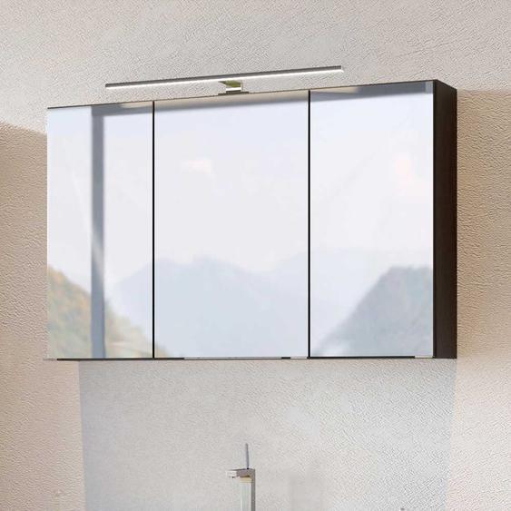 Badezimmer Spiegelschrank in Dunkelgrau 100 cm breit