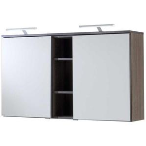 Badezimmer Spiegelschrank in Eiche dunkel 120 cm