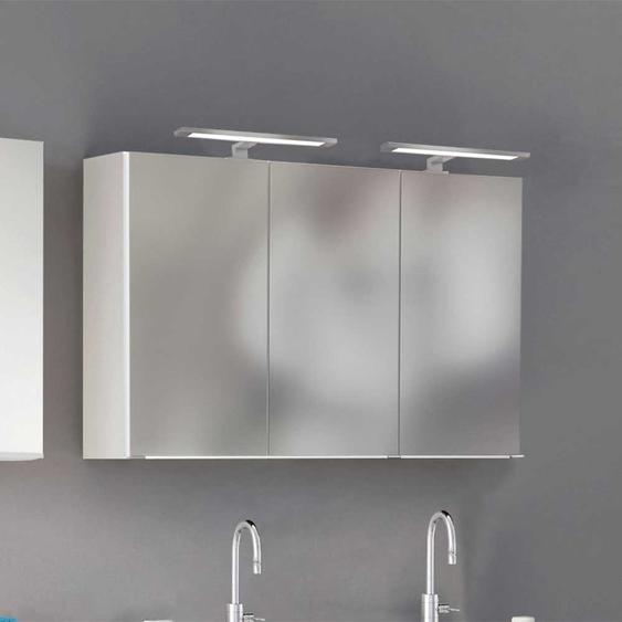 Badezimmer Spiegelschrank in Weiß 120 cm breit